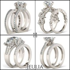 Which bridal set will you select? #jeulia #bridalset #fashionjewelry