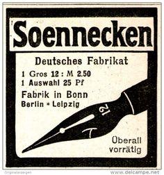 Original-Werbung/ Anzeige 1912 - SOENNECKEN FEDERHALTER   - ca. 45 x 50 mm