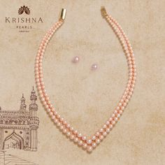 Product Code:JPC20008, Contact us on +91 9248036721. Peach color Pearls stringed 2- row Necklace & earstud amaze the charming women. #krishnapearls #peachpearl #peachpearls #pearlnecklaces #peachcolor #peachcolors #pearlnecklaceset #pearlnecklace #pearlstrings #pearlnecklacedesigns #pearlnecklaceph #freshwaterpearls #studs #pearlsets #pearlstuds #freshwaterpearlnecklace #originalpearls #purepearls #freshwaterpearlearrings #naturalpearls #originalpearl #cityofpearls #pearls Pearl Necklace Designs, Pearl Necklace Set, Pearl Set, Freshwater Pearl Necklaces, Pearl Studs, Peach Colors, Pure Products, Earrings, Jewelry