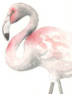 Flamingo Painting F075 by Splodgepodge contemporary artwork