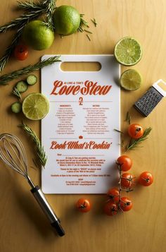 Here's the perfect wedding invitation for the foodie couple.
