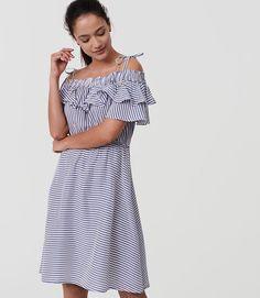 Ruffled off-the-shoulder dress #springstyle #summerstyle #loft
