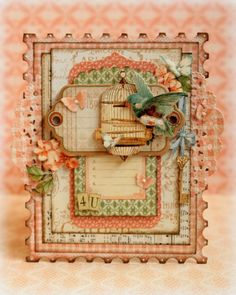 A card I made with the gorgeous Secret Garden collection.