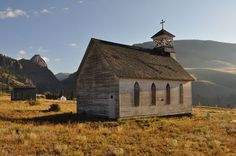 Old church in Creede, Colorado. Sits at the base of the cemetery. Beautiful.
