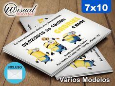 CMNS01 - Convite Minions 7x10cm