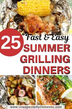 25 Delicious and Easy Foil Pack Dinners (perfect for the grill, oven, or campfire!) - - 25 Delicious and Easy Foil Pack Dinners (perfect for the grill, oven, or campfire! Foil Packet Dinners, Foil Pack Meals, Foil Dinners, Foil Packets, Camping Foil Meals, Summer Grilling Recipes, Healthy Summer Recipes, Easy Dinner Recipes, Easy Grill Recipes