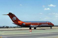 "AeroMéxico Douglas DC-9-15 XA-SOG ""Chihuahua"" at Los Angeles-International, circa June 1984. (Photo: Ron Monroe)"