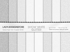 WHITE GLITTER Digital Papers 8 Glitter Textures, Paper Pack, Instant Download, printable scrapbooking texture, white christmas, silver, snow