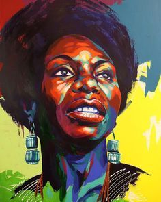 Just finished up the Nina Simone commissioned painting. This new process is turning out well. #art #acrylic #artist #artwork #artworks #artstudio #painting #artoftheday #portrait #paint #wip #workinprogress #instaart #instacool #instadope #instagood #instafresh #urbanart #blackart #inspiration #motivation #Love #abstractart #abstractpainting #abstractartist #art_help #ninasimone by detour303