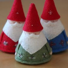 Felt gnomes. From All Things Small: http://www.etsy.com/shop/allthingssmall?ref=pr_shop