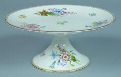"249: Shelley China Wild Flowers pattern Cake Stand, 4"" : Lot 249"