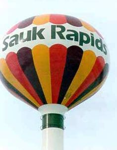 Sauk Rapids MN Water Tower.  I remember driving by this every weekend on the way to the cabin!