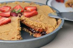 No Bake Peanut Butter & Jelly Pie. Ingredients: vanilla wafers, cool whip, peanut butter, butter, strawberry preserves