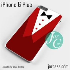 Red Cool Suit Phone case for iPhone 6 Plus and other iPhone devices