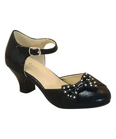 Black Cinderella Bow Dress Shoe