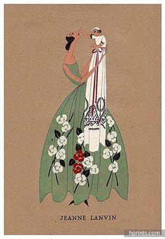 fashion pochoir print - Jeanne Lanvin