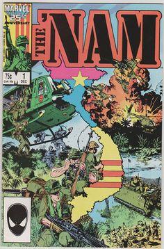 The 'Nam V1 1.  NM. Dec 1986. Marvel Comics by RubbersuitStudios, $8.50 #nam #vietnamwar #comicbooks