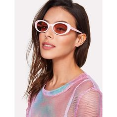 a776ef21ed Contrast Flat Lens Sunglasses PINK Silver Accessories