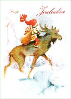 Eeli Jaatinen Merry Little Christmas, Christmas Cards, Parts Of The Earth, Legendary Creature, Reno, Red Hats, Gnomes, Elves, Finland