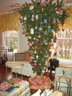 One of my upside down Christmas trees