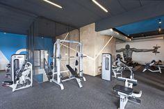 Klub Adrenalina Fitness. Projekt wnętrz i elewacji: Spacelab Agnieszka Deptuła Architekt