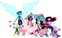 All crystal gems in updates forms! I just had to add this on my SU board! It looks awesome! Bismuth Steven Universe, Steven Universe All Gems, Steven Universe Lapis Lazuli, Connie Steven Universe, Pearl Steven, Steven Univese, Lapis And Peridot, Alien Races, Universe Art