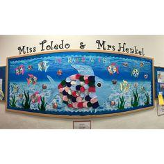 rainbow fish bulletin board. march 2017.