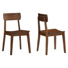 Hagen Zebra Dining Chair - Walnut (Set of 2)