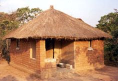 Zambian vernacular architecture... example of a mud hut.