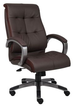 Boss Office Products B8771P-BN Boss Double Plush High Back Executive Chair