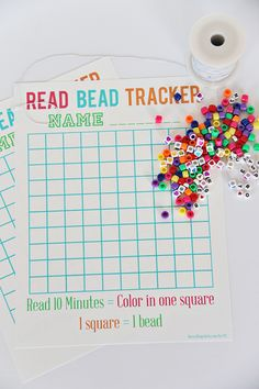 A fun reading incentive program. Kids will keep track of their reading minutes and earn a bead for every 10 minutes read. This is perfect for summer time!