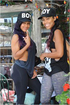 Sisters (Meagan Good & her sister) Meagan Good Sister, Megan Good, Sister Keeper, Black Girls Rock, Black Girl Magic, My Black Is Beautiful, Beautiful People, Beautiful Women, Glamour