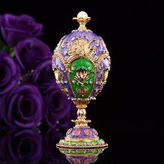 New Arrive Luxury Faberge Egg Trinket Box Metal Home Decor Business Gift #newarrive #luxuryfaberge #fabergeegg #faberge #egg #trinketbox #box #metaldecor #homedecor #decor #businessgift #gift #ebay #buy
