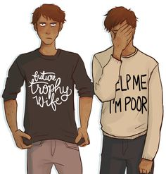 """squidwithelbows: """"This started as practice drawing Adam, but it turned into something more like a life lesson about why you should never let Ronan Lynch give you clothing. Character Inspiration, Character Design, Character Ideas, Adam Parrish, Raven King, Maggie Stiefvater, Comic, Drawing Practice, Ya Books"""
