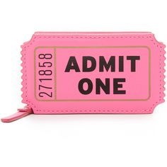 Kate Spade New York Ticket Coin Purse (€70) ❤ liked on Polyvore featuring bags, wallets, tulip pink, zipper wallet, pink wallet, pink coin purse, leather coin pouch and zipper coin purse