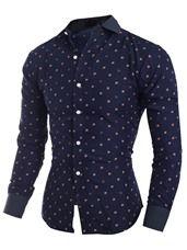 Ericdress Long Sleeve Print Slim Fit Men's Shirt