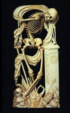 Carved Ivory Skelelon... very graceful, actually.