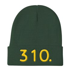 California 310 Area Code - Knit Beanie