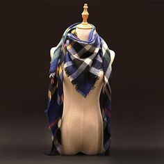 Plaid Cashmere Scarf Women Oversized Blanket Scarf Wrap long Wool Scarf Women Pashmina Shawls
