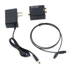 1 cái Kỹ Thuật Số Coaxial Quang Toslink Tín Hiệu để Analog Audio Converter Adapter MỸ Cắm Nóng Trên Toàn Thế Giới