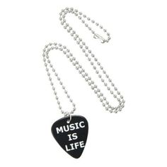 Music Is Life Pick Necklace Hot Topic ❤ liked on Polyvore featuring jewelry and necklaces