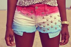 DIY 4th of July Star Studded Shorts
