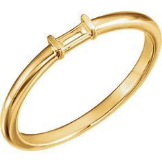 14kt Yellow Stackable Ring Mounting