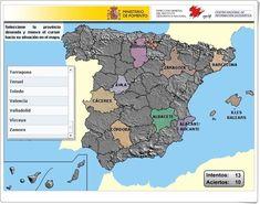 """""""Puzzle de provincias de España"""" (Instituto Geográfico Nacional de España) Bingo, Puzzles, Socialism, Science Area, Interactive Activities, Teaching Resources, Social Science, Puzzle"""