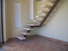 Interior : Interesting steel and timber stairs design combined with elements of wood as a footing picture - a part of Amazing Staircase Design Ideas For Contemporary Home Timber Staircase, Iron Staircase, Attic Staircase, Staircase Design, Spiral Staircase, Marble Stairs, Concrete Stairs, Floating Stairs, Architecture