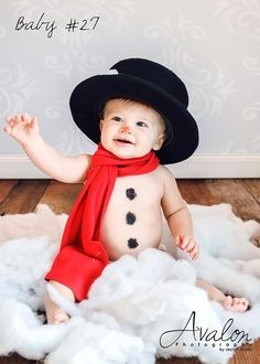 1st Christmas photo. Adorable idea!!! Dress Brayden and Brynna in snow clothes like they are building a snowman.