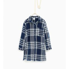 Checked dress - DRESSES AND JUMPSUITS-Girl-Kids | 4-14 years-KIDS |... (200 MAD) ❤ liked on Polyvore featuring dresses