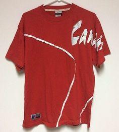 True North Kalson Red Canada T Shirt Adult Large White Trim Celebration Day | eBay