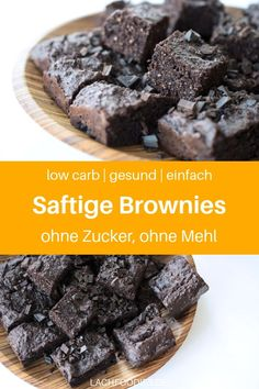 Köstliche Low Carb Brownies (glutenfrei, zuckerfrei) Do you fancy low carb brownies? Then I have something for you here: A healthy recipe for low carb brownies, simple, without special ingredien Low Carb Sweets, Low Carb Desserts, Healthy Sweets, Low Carb Recipes, Baking Recipes, Snack Recipes, Dessert Recipes, Dinner Recipes, Healthy Recipes
