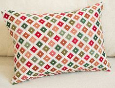 Geometric Pillowcase, Green Diamond Pillow, Green Chair Cushions, Woven Pillow Cover, Green Bed Pillows, Home Decor Pillows, Unique Pillows